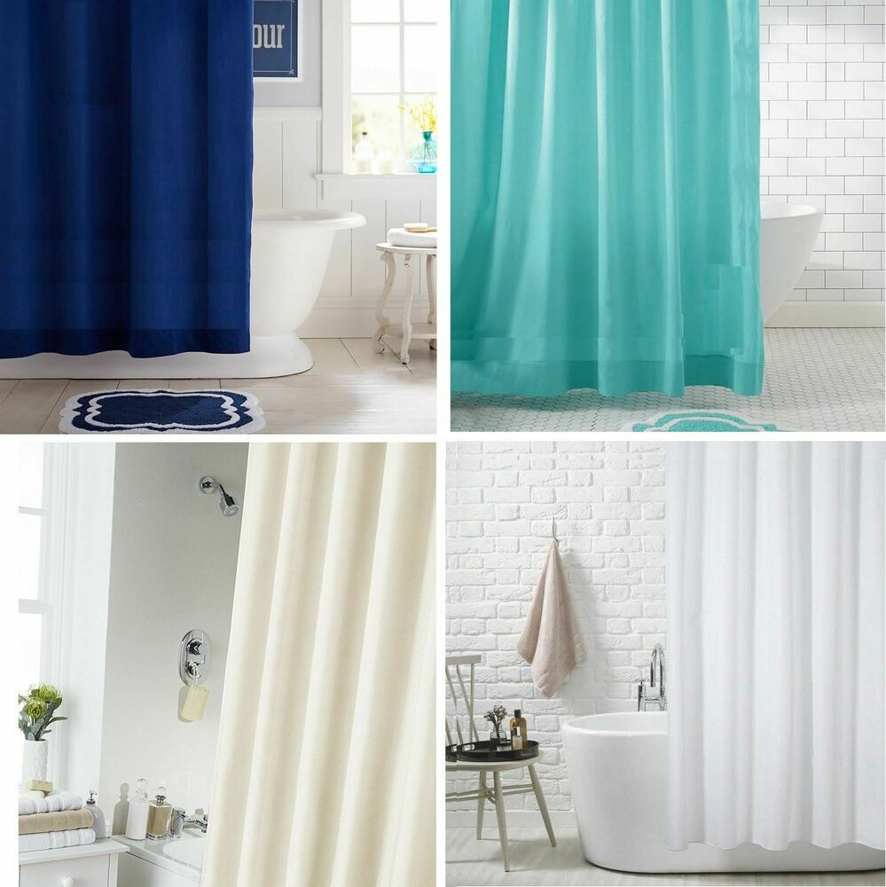 Extra Long Extra Wide Long Drop Waterproof Fabric Shower