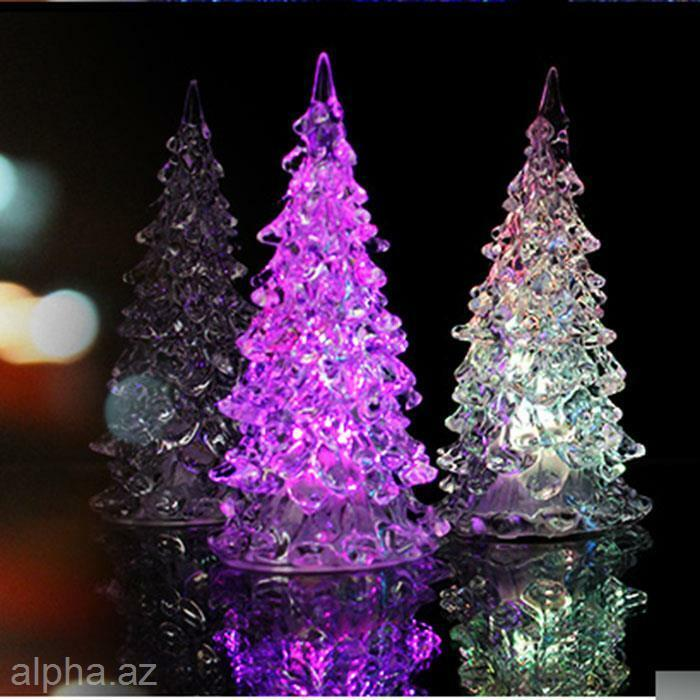 Christmas Gift Tree Ice Colorful Changing Led Desk Decor