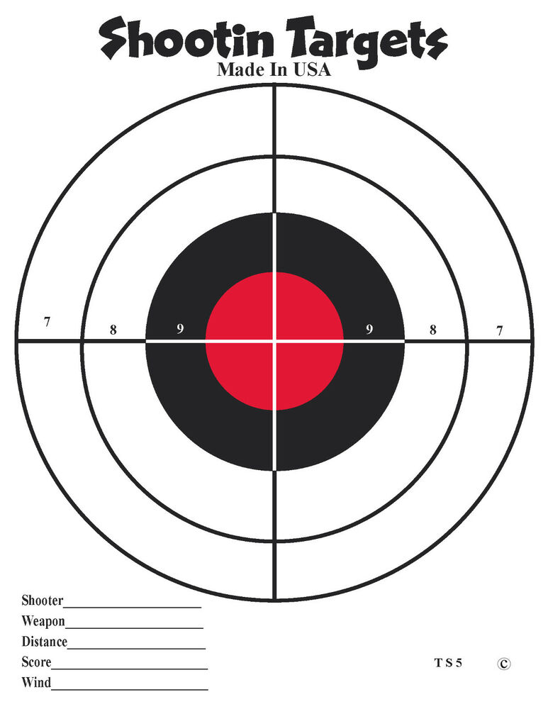This is a picture of Ambitious Printable Pistol Targets 8.5 X 11