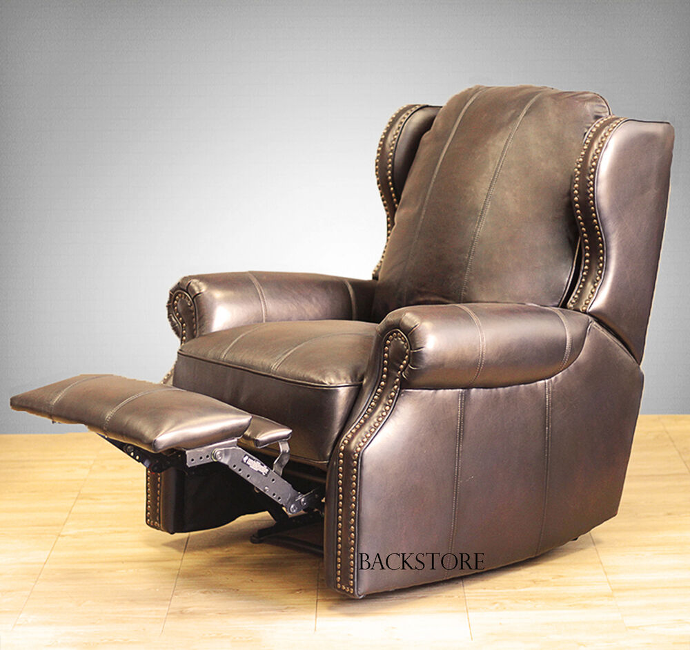 New Barcalounger Bristol Ii Wall Hugger Leather Recliner