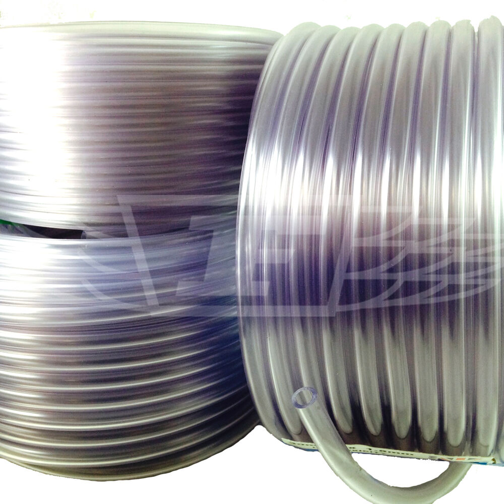 Flexible Plastic Covers For Pipes : Mm quot thick wall clear pvc tubing plastic