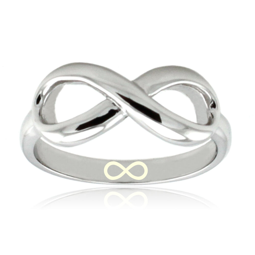 womens sterling silver 925 infinity symbol infinity