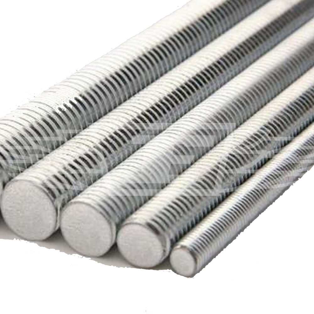 Meter high tensile galvanised steel threaded rod bar