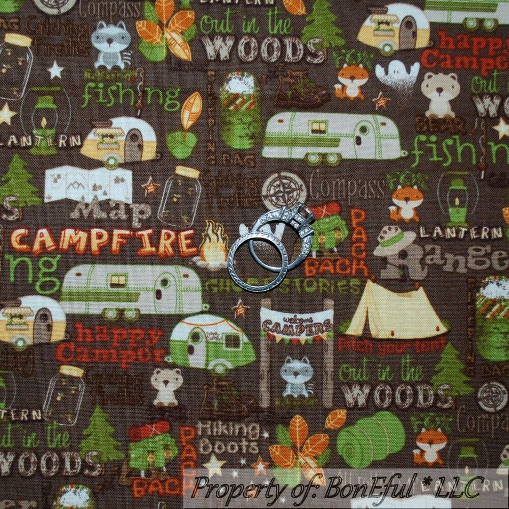 Boneful fabric fq cotton flannel quilt boy girl sm scout for Boy quilt fabric
