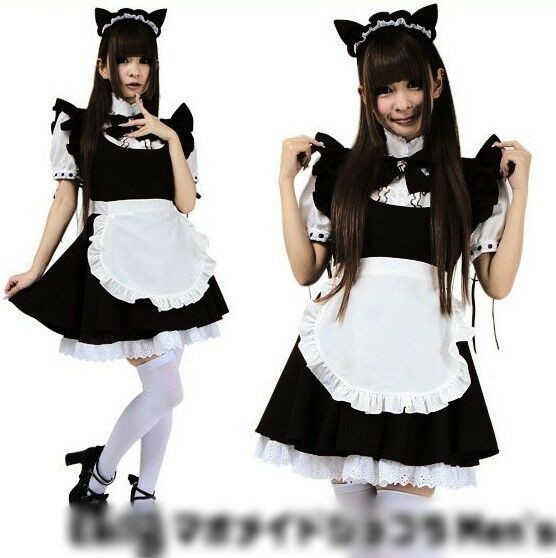 Anime Maid Ooutfit Little Bell the Cat Maid Fancy Dress Lolita Cosplay Costume | eBay