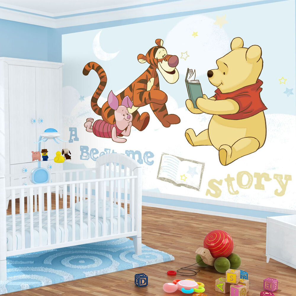 vlies kinder fototapeten fototapete tapeten disney winnie the pooh 314ve ebay. Black Bedroom Furniture Sets. Home Design Ideas