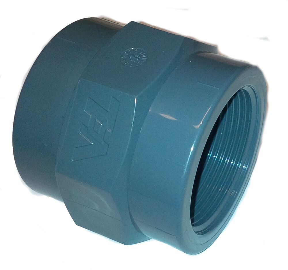 pvc pipe gluexfemale threaded fbsp socket solvent weld 20 25 32 40 50 63 75 90mm ebay. Black Bedroom Furniture Sets. Home Design Ideas