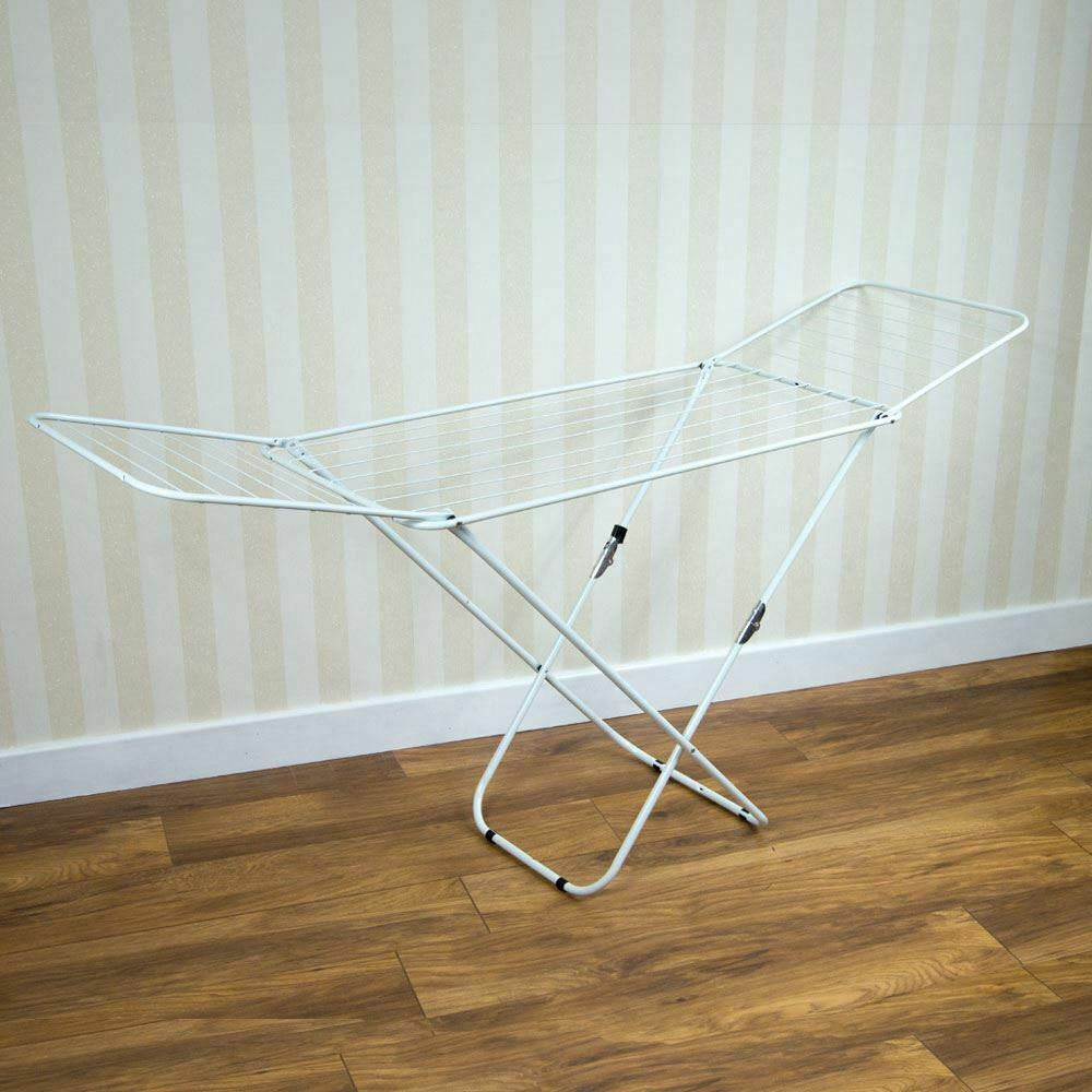 clothes airer winged drying 18m indoor outdoor laundry rack new by home discount ebay. Black Bedroom Furniture Sets. Home Design Ideas