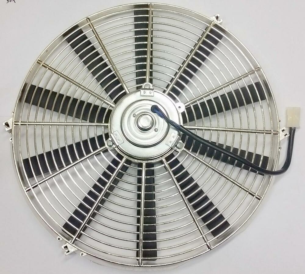 Radiator Cooling Fans : Quot street rod radiator electric chrome cooling fan