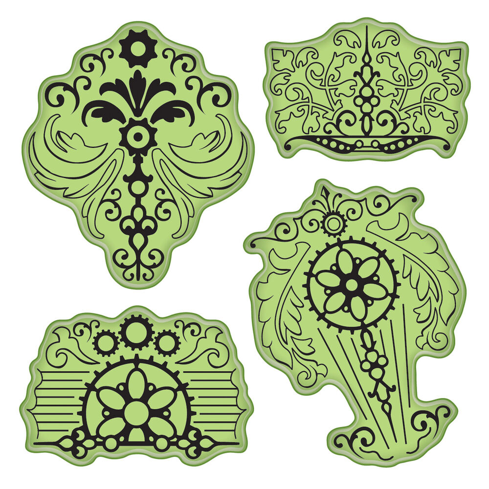Vintage parts stamping gear unmounted cling rubber stamp for Custom craft rubber stamps