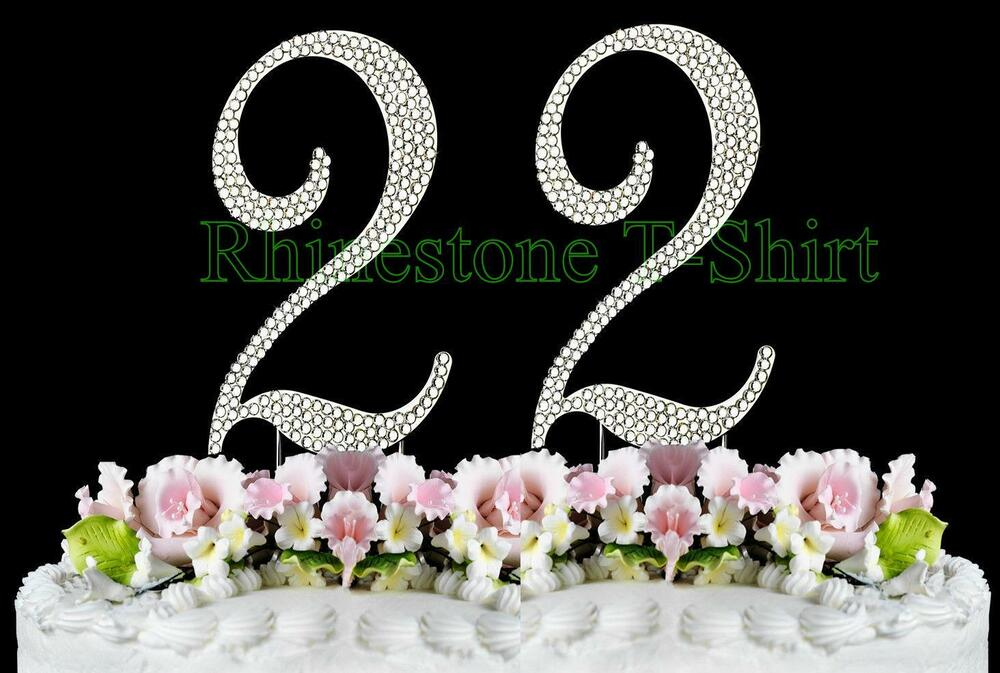 Wedding Anniversary Gift Ideas 22 Years : ... NUMBER (22) Cake Topper 22th Birthday Wedding Party Anniversary eBay
