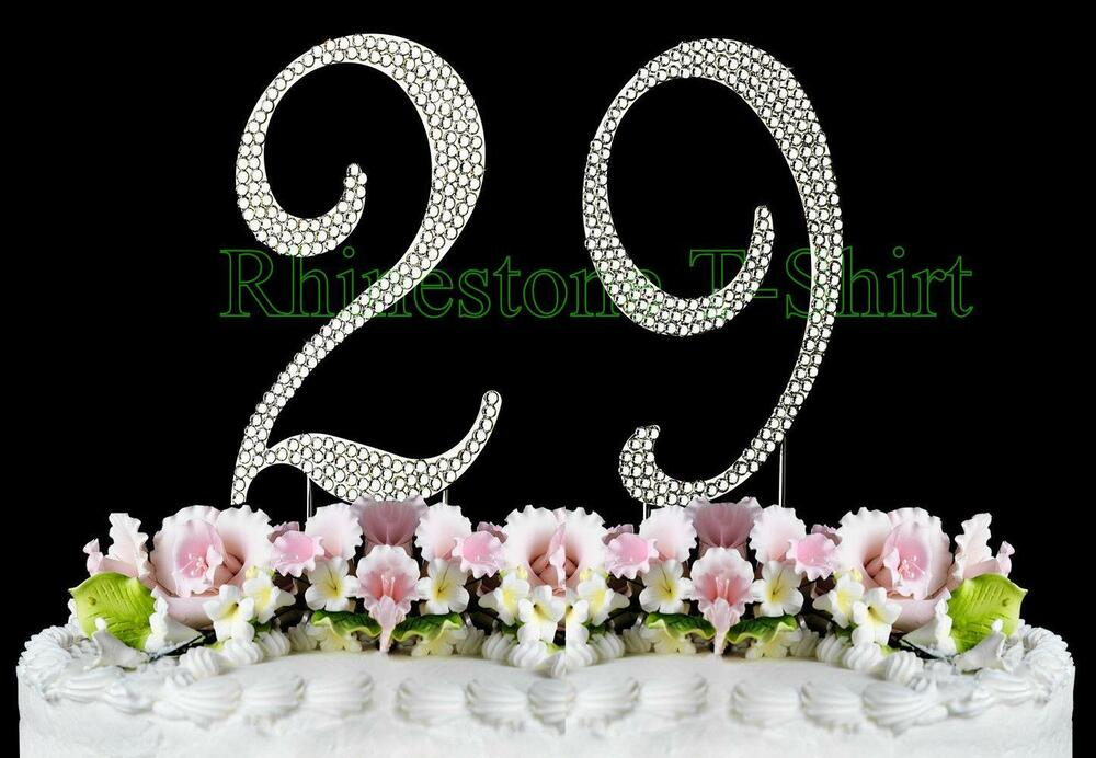 wedding cake toppers with rhinestones large rhinestone number 29 cake topper 29th birthday 26640
