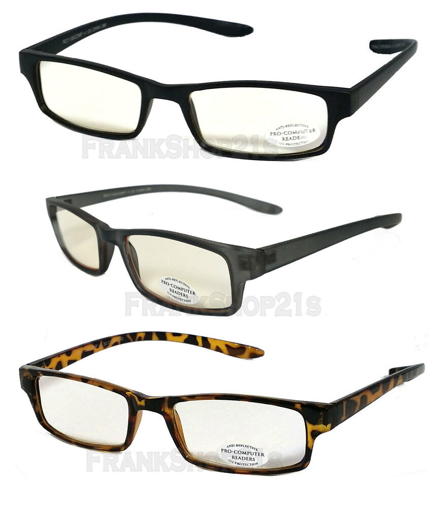 c06ef149d7c6 Pro Computer UV Protect Anti Reflective Tinted Lens Hang Neck Reading  Glasses
