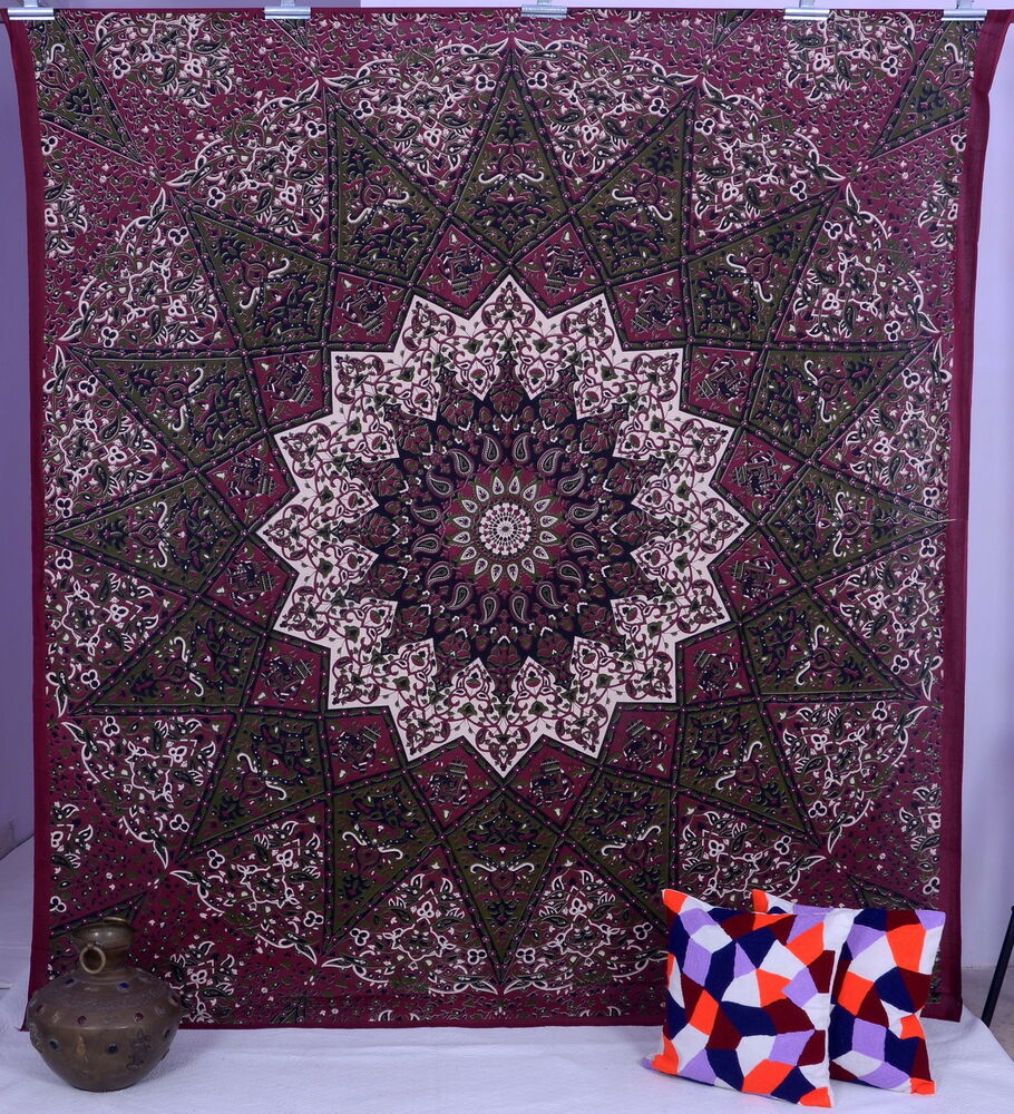 Indian star hippie mandala psychedelic wall hanging for Wall hanging