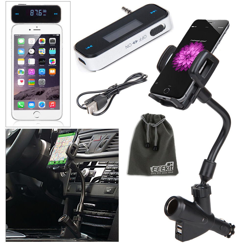 EEEKit Wireless FM Transmitter+Car Charger Mount Phone