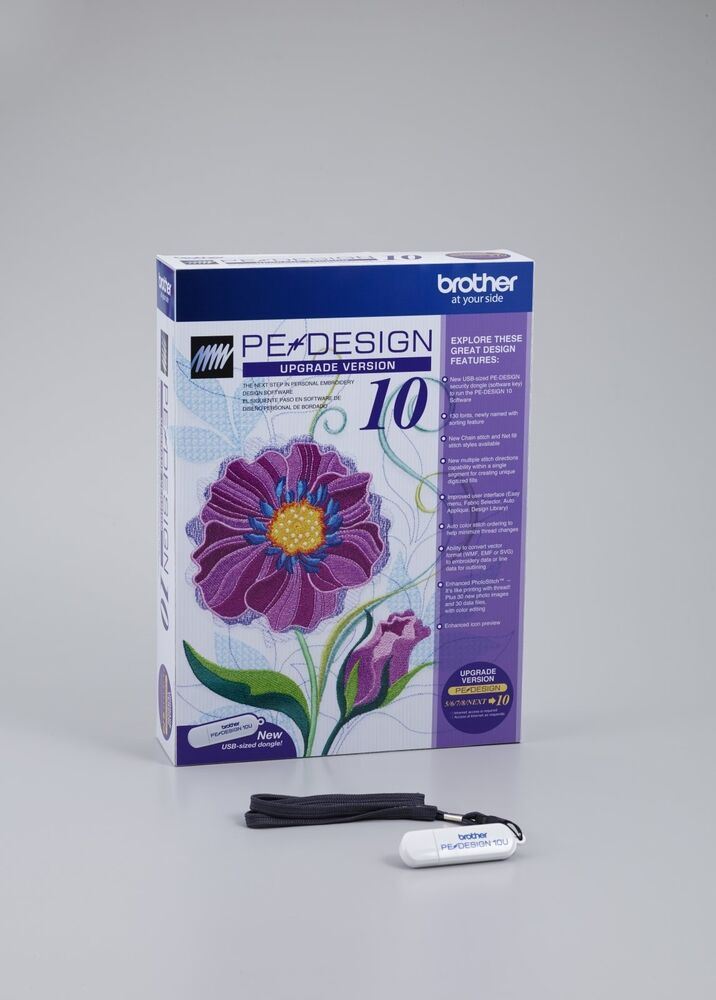 Brother pe design 10 embroidery software upgrade from 5 6 for Embroidery office design version 7 5