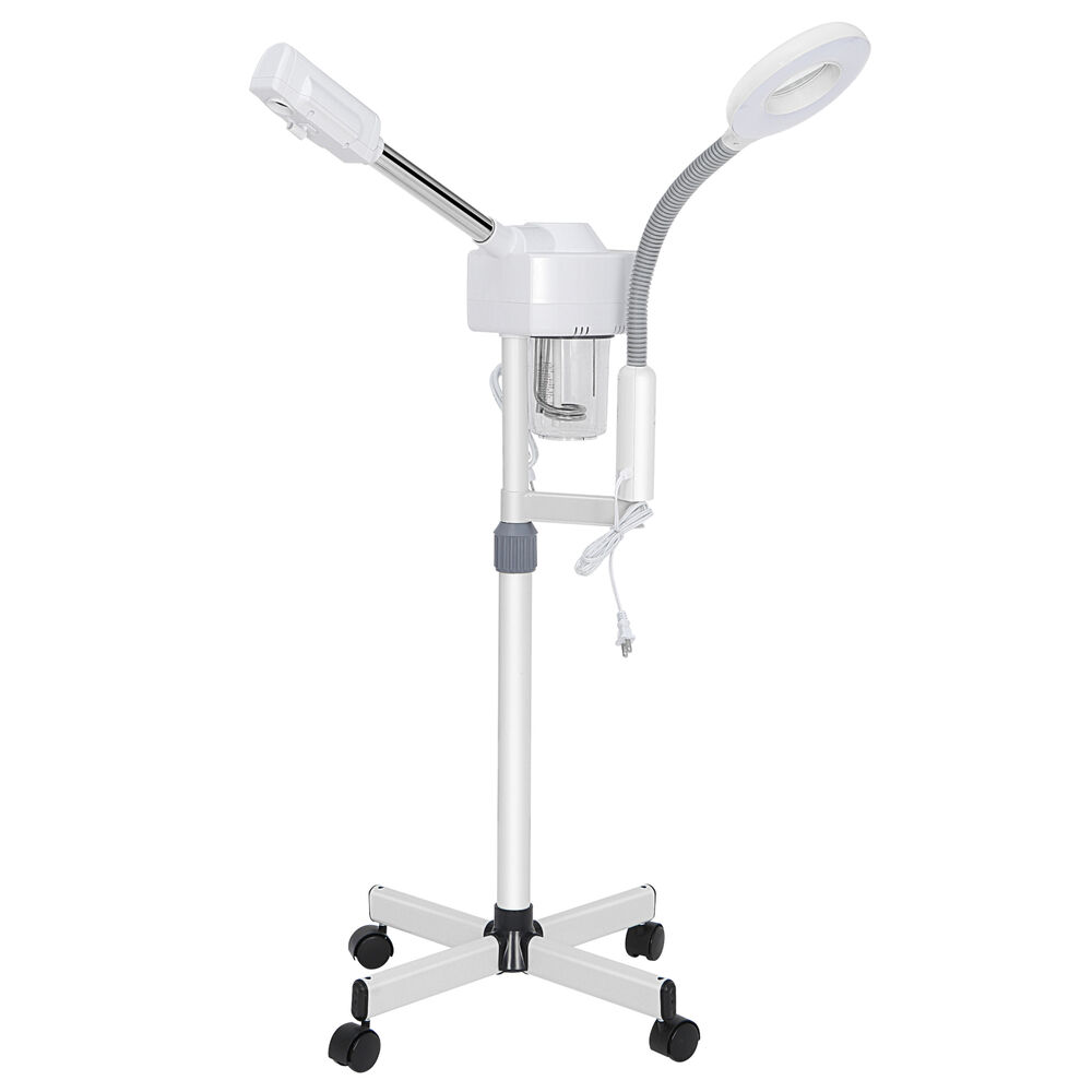 2In1 Facial Steamer 5x Clamp Magnifying Lamp Hot Ozone