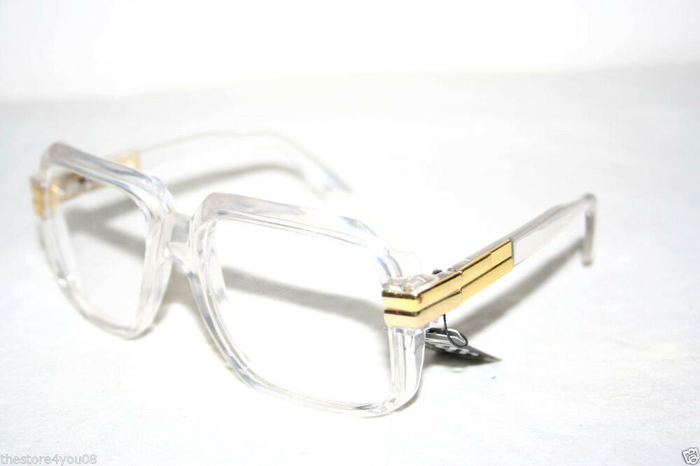 Clear Lens Gold Frame Glasses : Vintage 607 Clear Lens Glasses Run DMC Retro Clear Gold ...