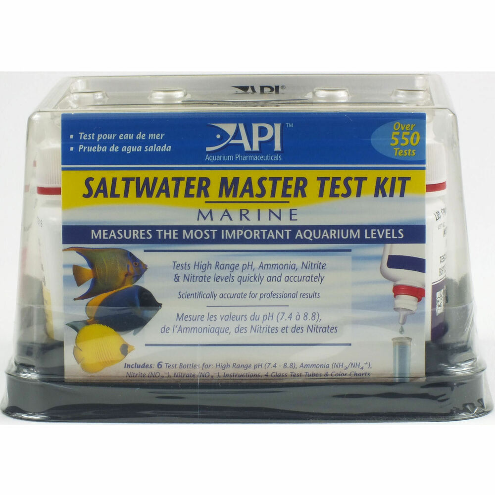 api saltwater marine aquarium master liquid test kit fish