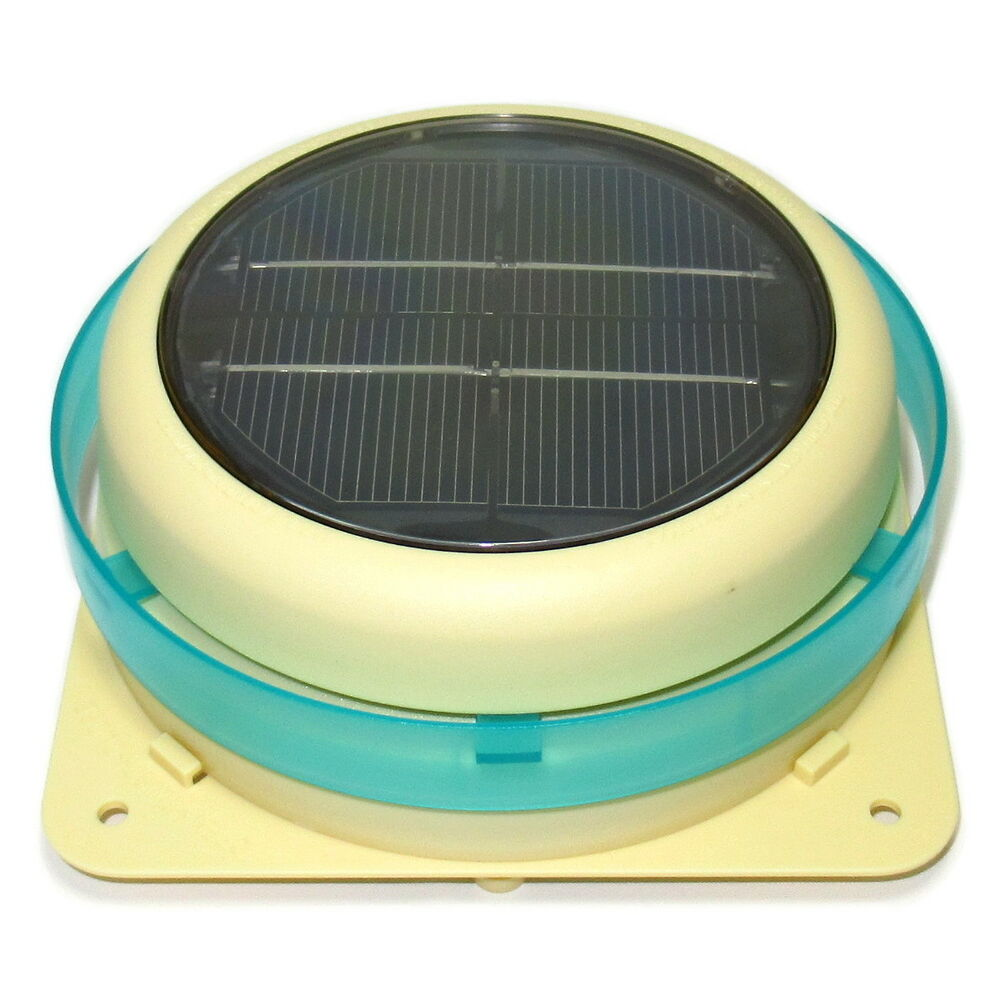 Solar powered fan ventilator extractor for heat odours - Solar powered extractor fan bathroom ...