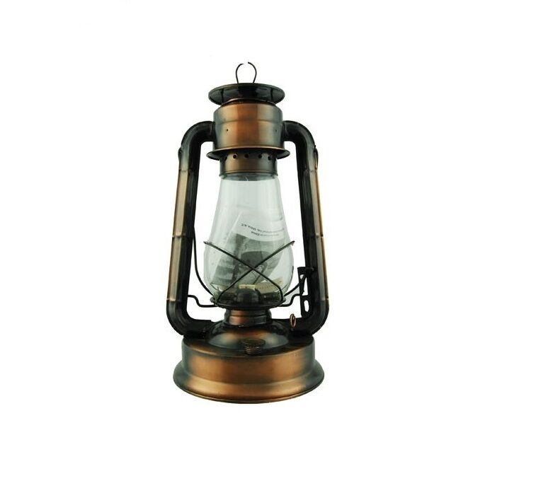 "Hanging Lamp That Drips Oil: Hurricane Oil Lantern 15"" Bronze Plated Vintage Style Lamp"