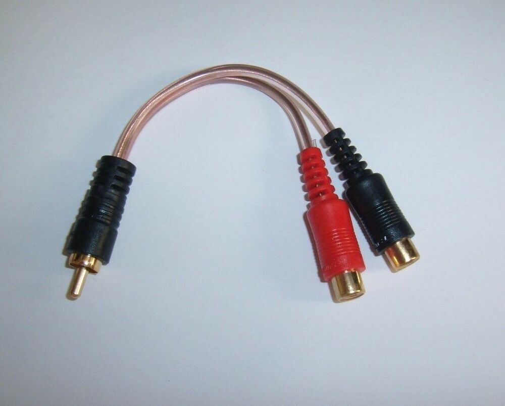 Metra RCAY2 Gold RCA Y Adapter Interconnet Audio Cable Amp Wire 2 ...