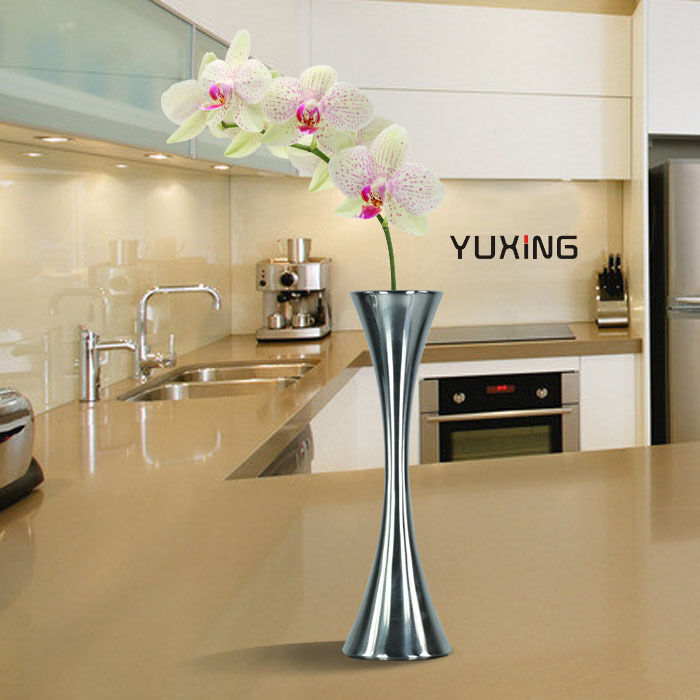 Decoration For Kitchen Table: Modern Unique Home Decoration Kitchen Stainless Steel Table Decor Flower Vase
