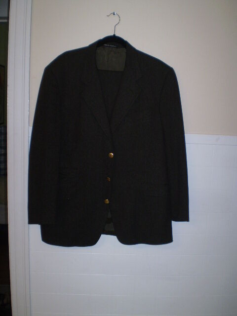 vintage suit from simpson piccadilly georgio armani monogramed buttons size 44