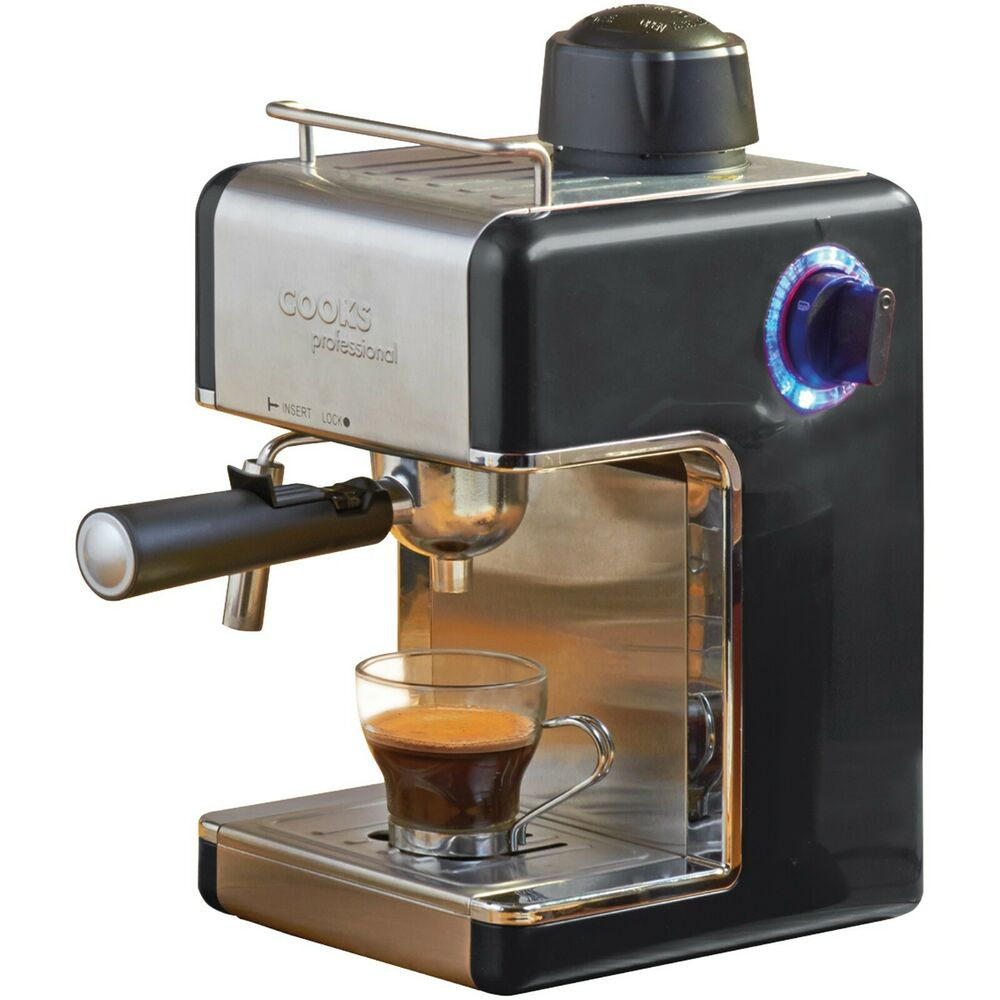 italian espresso coffee espresso cappuccino machine black cooks professional 53163696269 ebay. Black Bedroom Furniture Sets. Home Design Ideas