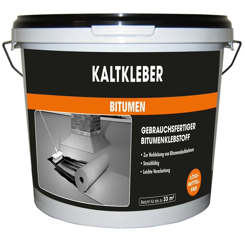 kaltkleber bitumen 10 kg mem bauchemie neu kleber bitumenkaltkleber f dachpappe ebay. Black Bedroom Furniture Sets. Home Design Ideas