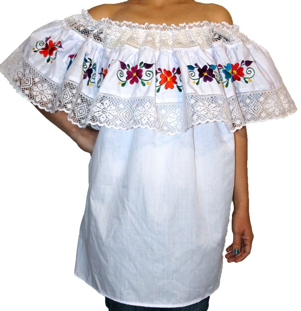 Original Mexican Embroidered Blouse  Women39S Lace Blouses