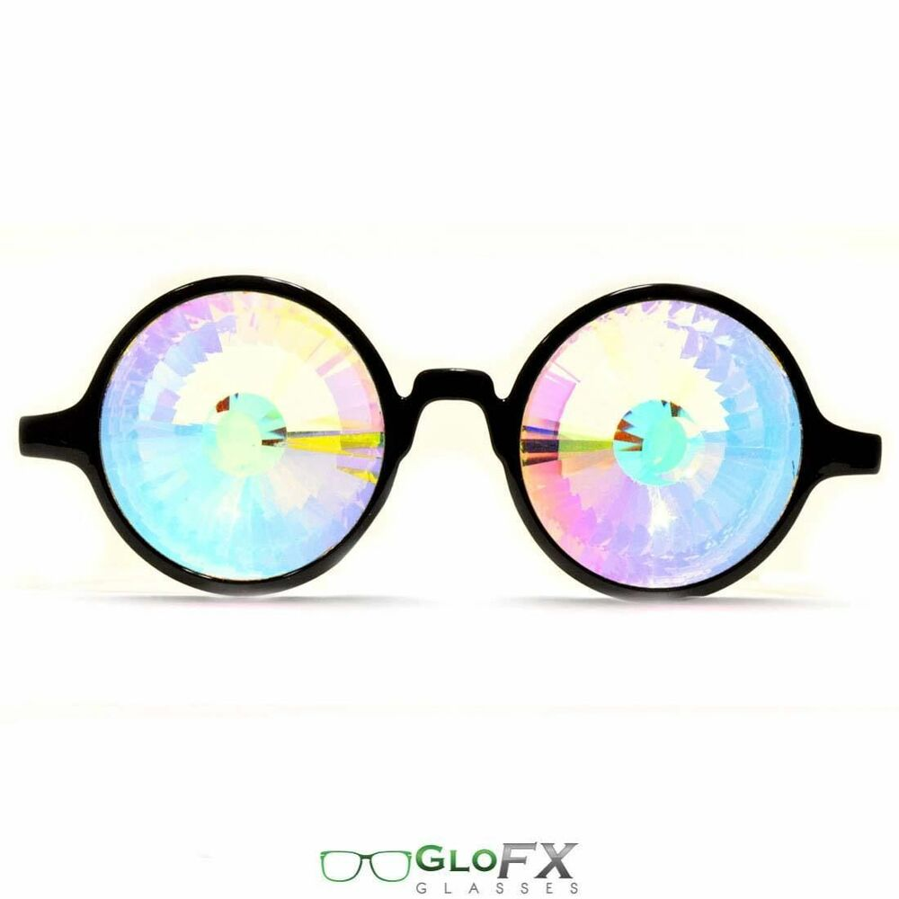 Eyeglass Frames Made In The Usa : GloFX Wormhole Kaleidoscope Glasses Clear Center - Made In ...
