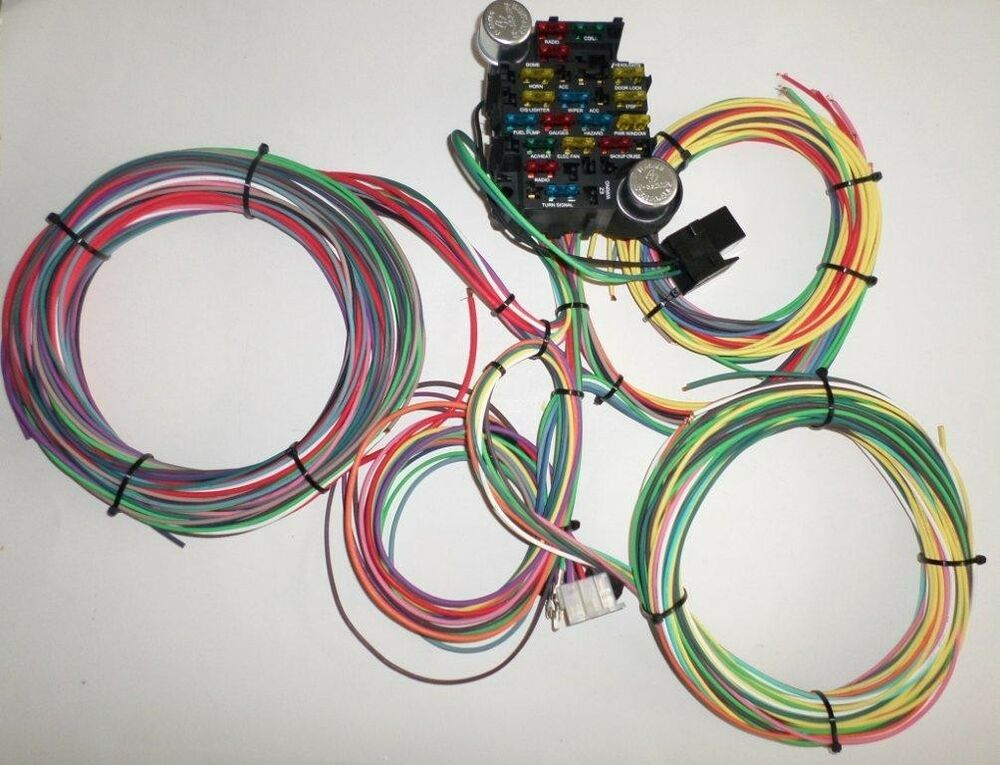 21 circuit ez wiring harness chevy mopar ford hotrods. Black Bedroom Furniture Sets. Home Design Ideas