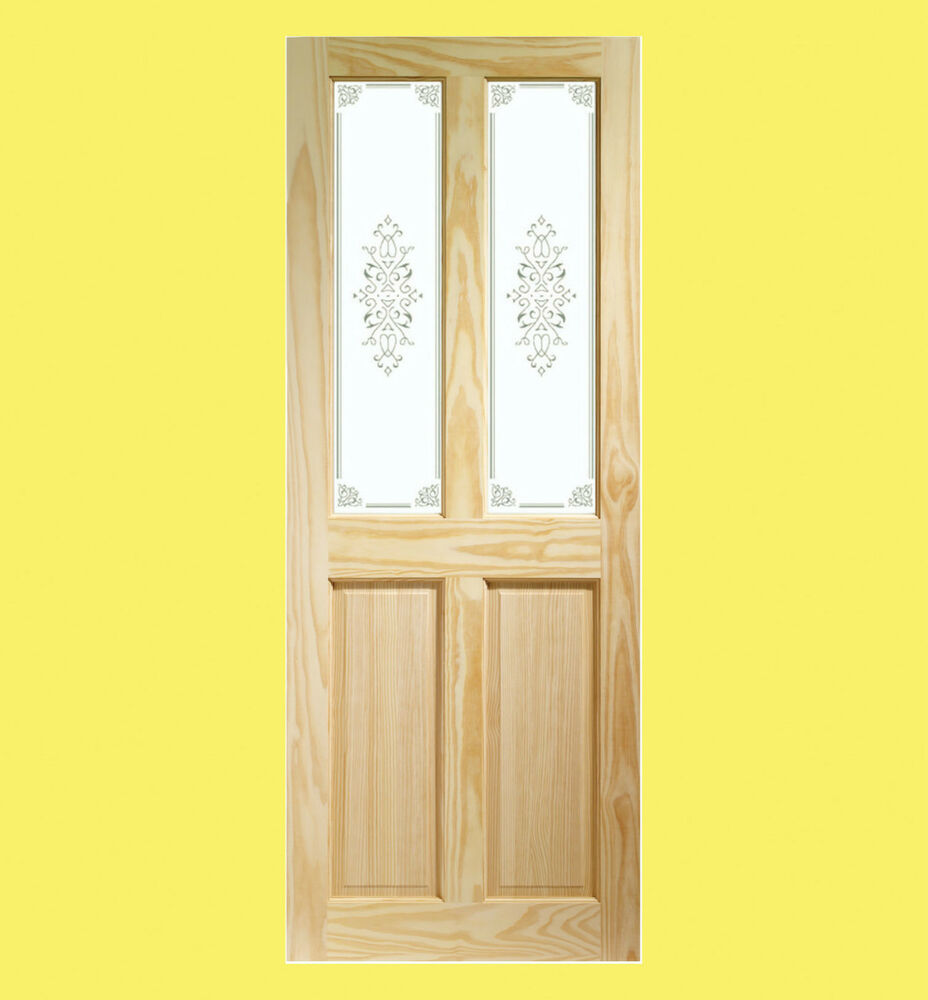 internal pine victorian door with campion glass various. Black Bedroom Furniture Sets. Home Design Ideas