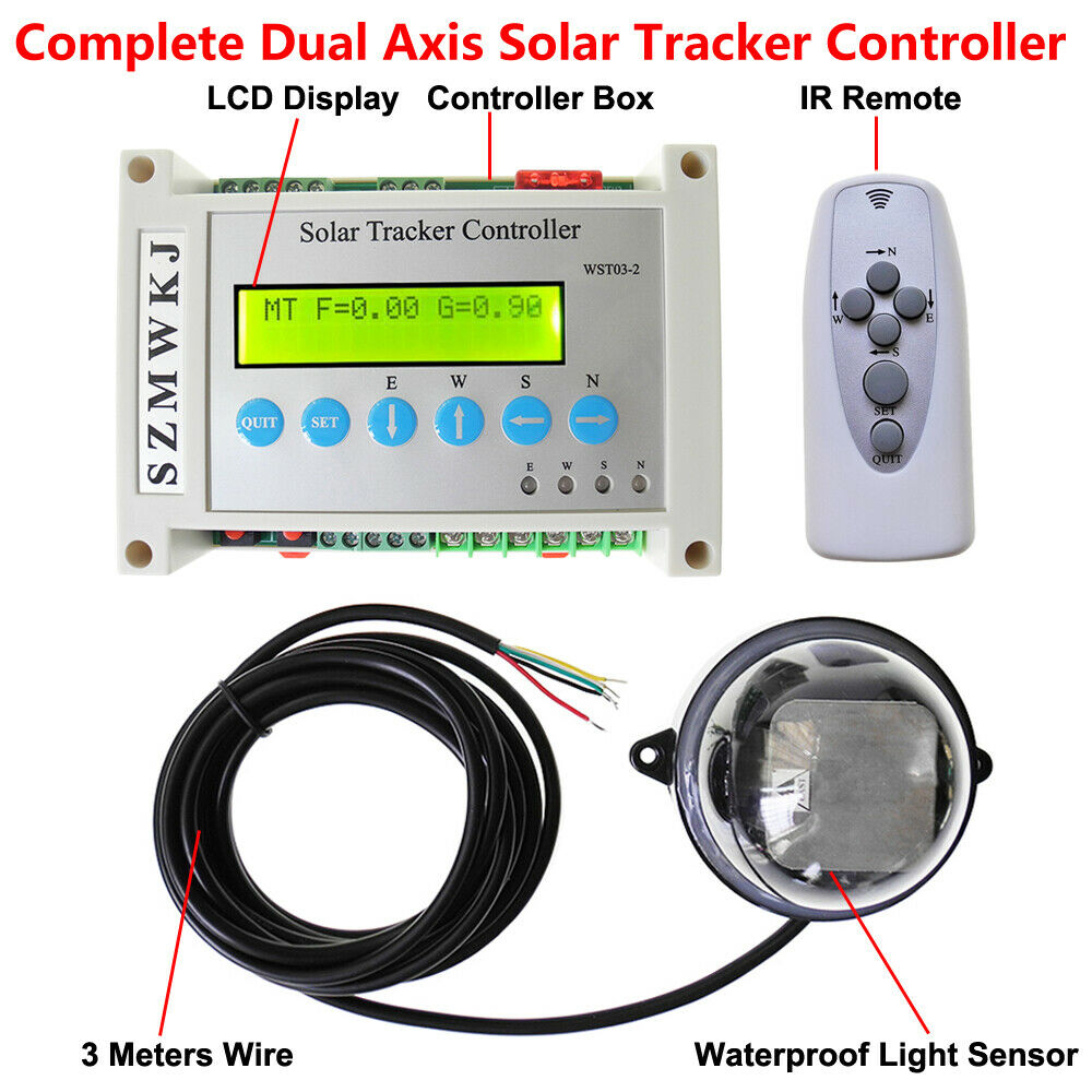 Dual Axis Solar Tracking Tracker Controller For PV Solar