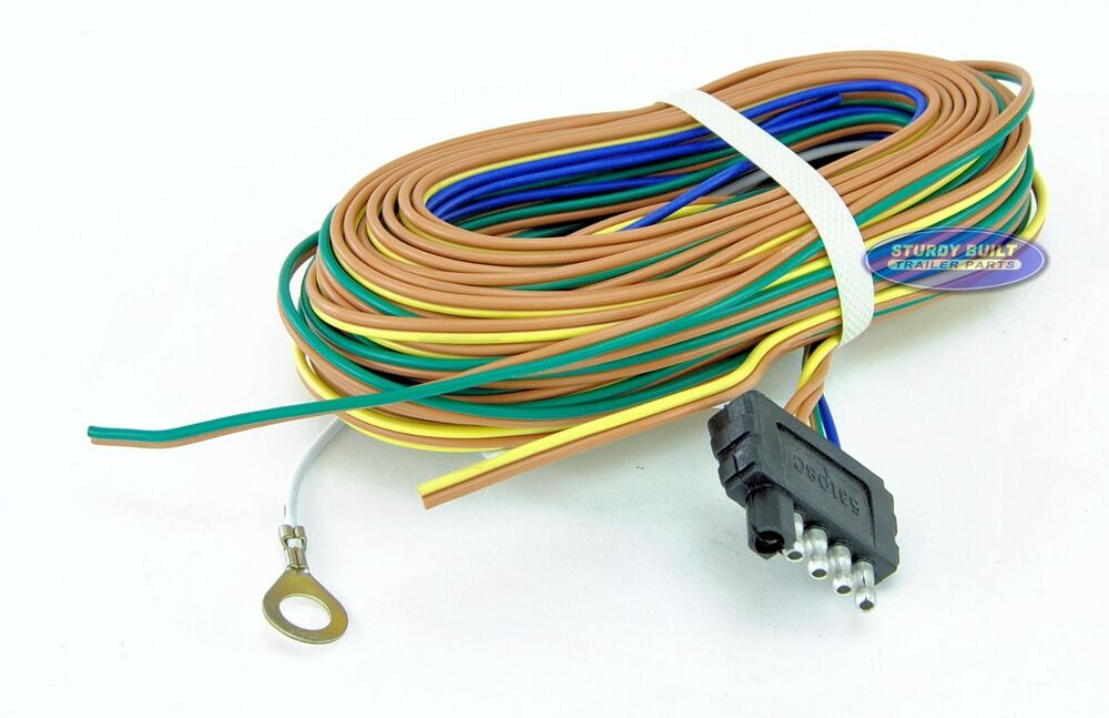 Boat Or Utility Trailer Light Wiring Harness Standard 5 Flat 35 Foot Long