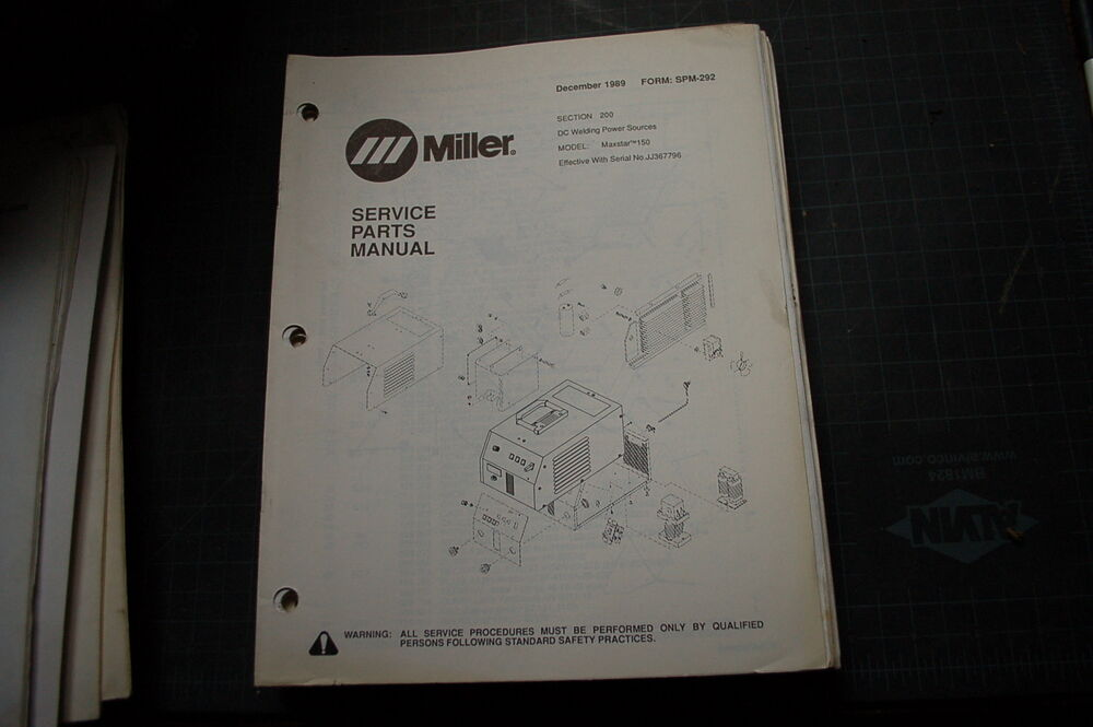 miller welder maxstar 150 generator owner parts manual book catalog list spare ebay