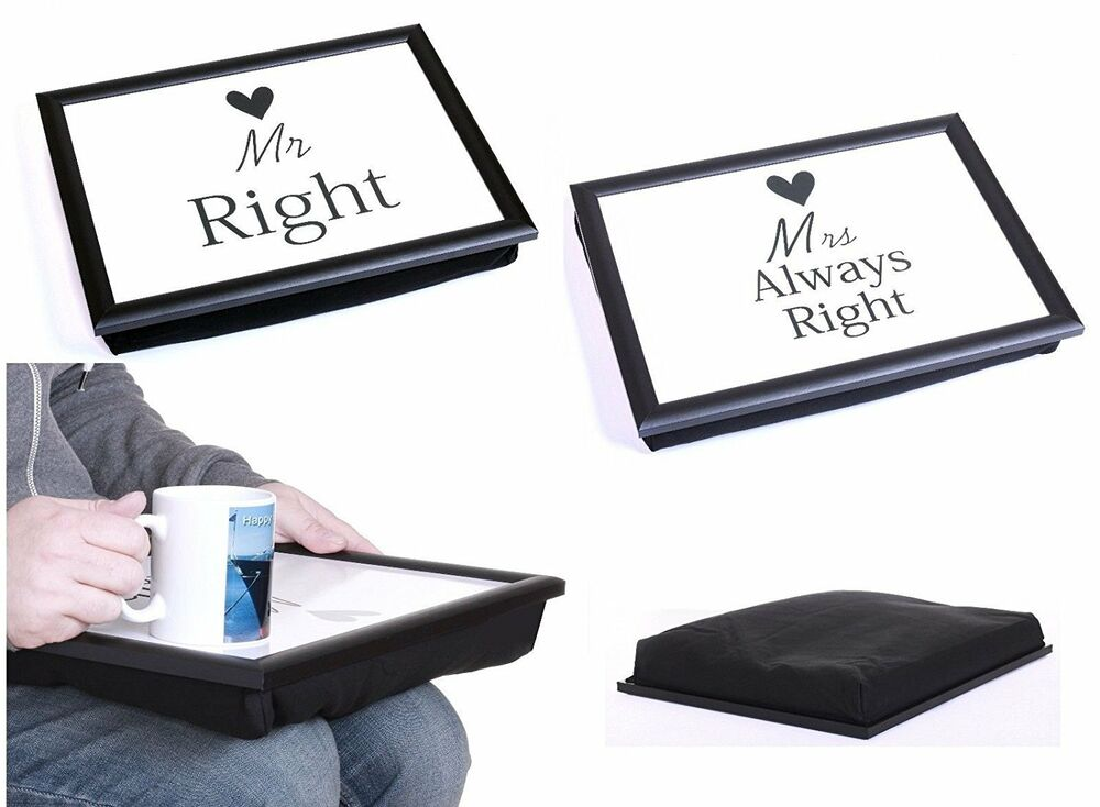 mr right mrs always right bean bag padded cushion lap. Black Bedroom Furniture Sets. Home Design Ideas