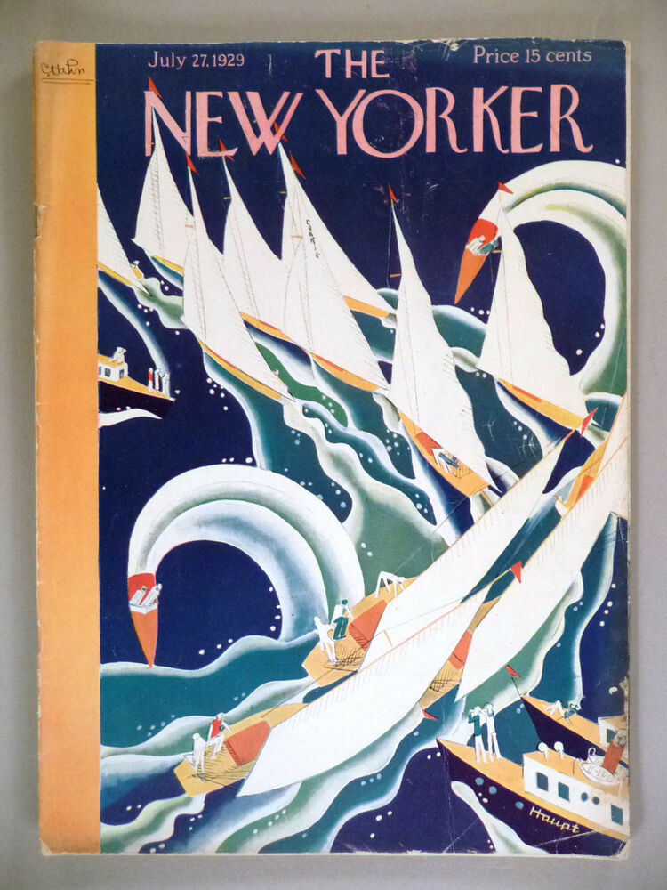 the new yorker magazine july 27 1929 theodore g haupt art deco cover ebay. Black Bedroom Furniture Sets. Home Design Ideas