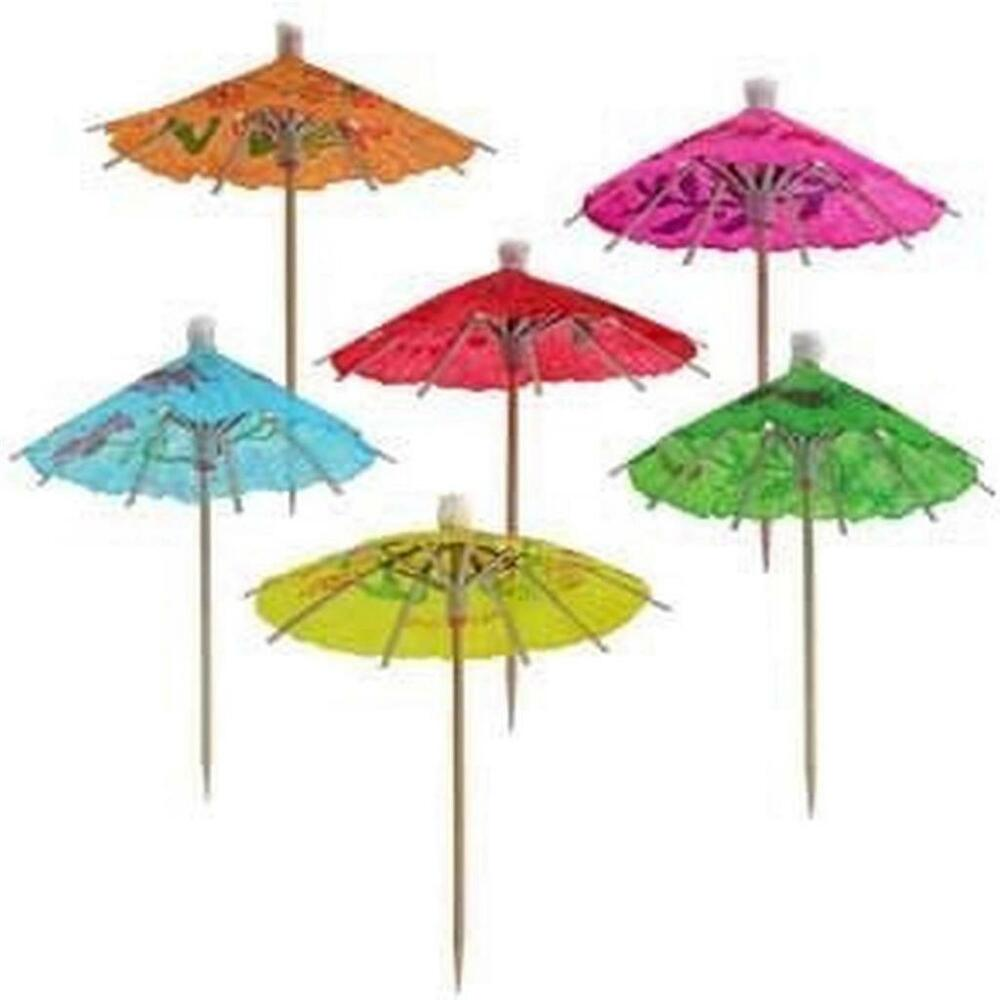 Paper Cocktail Parasol Drink Umbrellas 144pcs S 3459