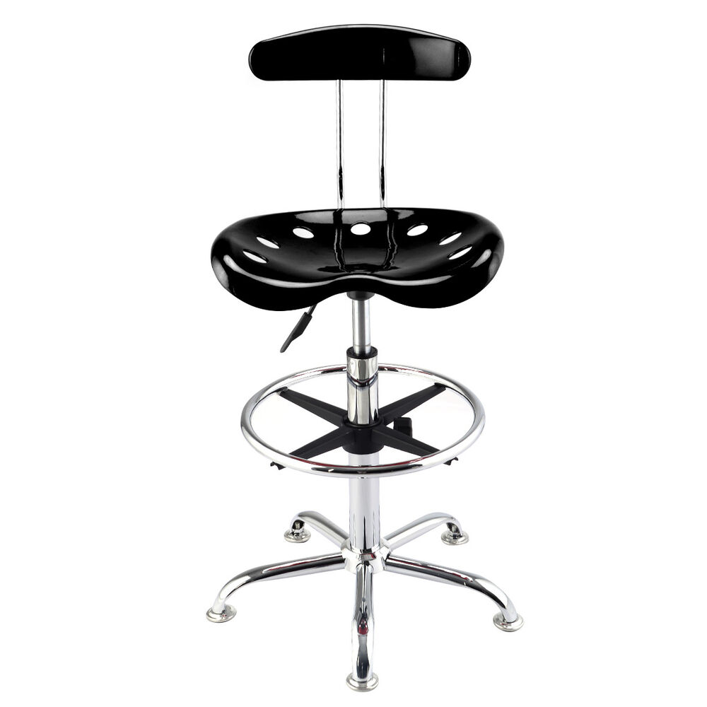 1pc Adjustable Bar Stools Abs Tractor Seat Chrome Kitchen