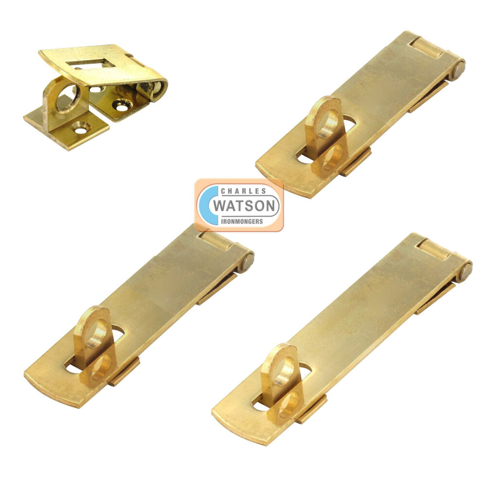 38mm 50mm 63mm 75mm messing hasp staple klein mini t r schrank schrankschloss ebay. Black Bedroom Furniture Sets. Home Design Ideas