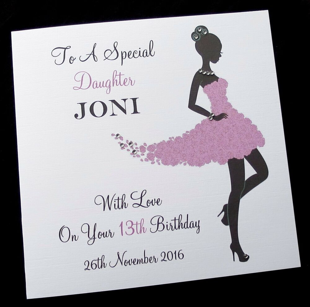 Personalised Birthday Card Sister Daughter Friend Niece
