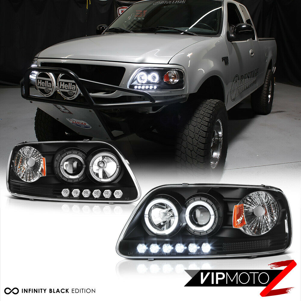 1997 2003 ford f150 lobo black halo led drl projector. Black Bedroom Furniture Sets. Home Design Ideas