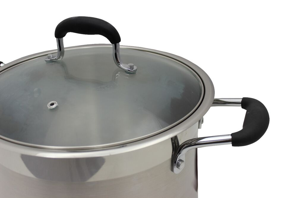 ... Steel Stock Pot Dutch Oven Cookware Induction Compatible | eBay