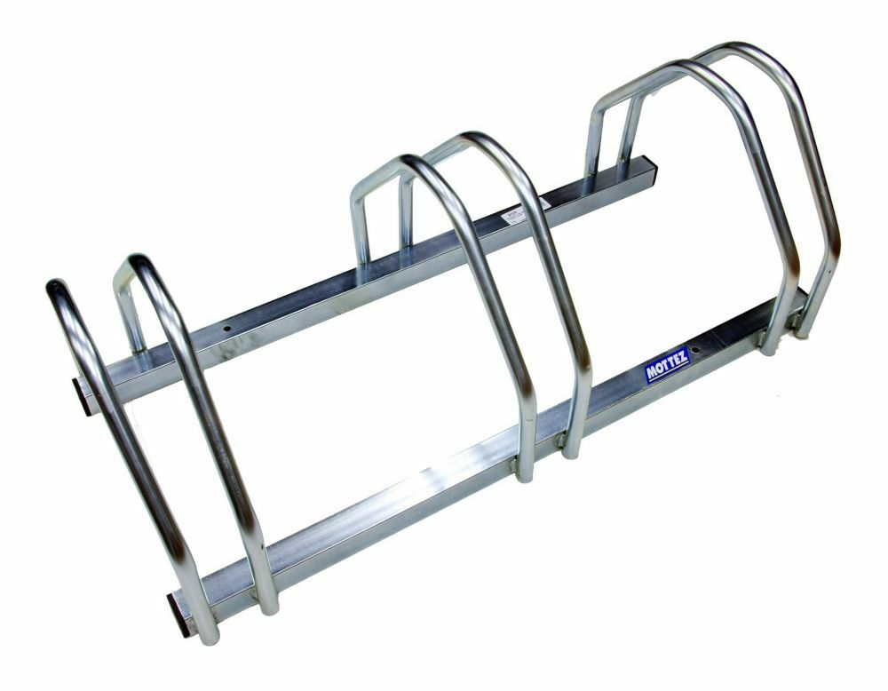 Mottez 3 Bike Cycle Bicycle Storage Floor Stand Rack