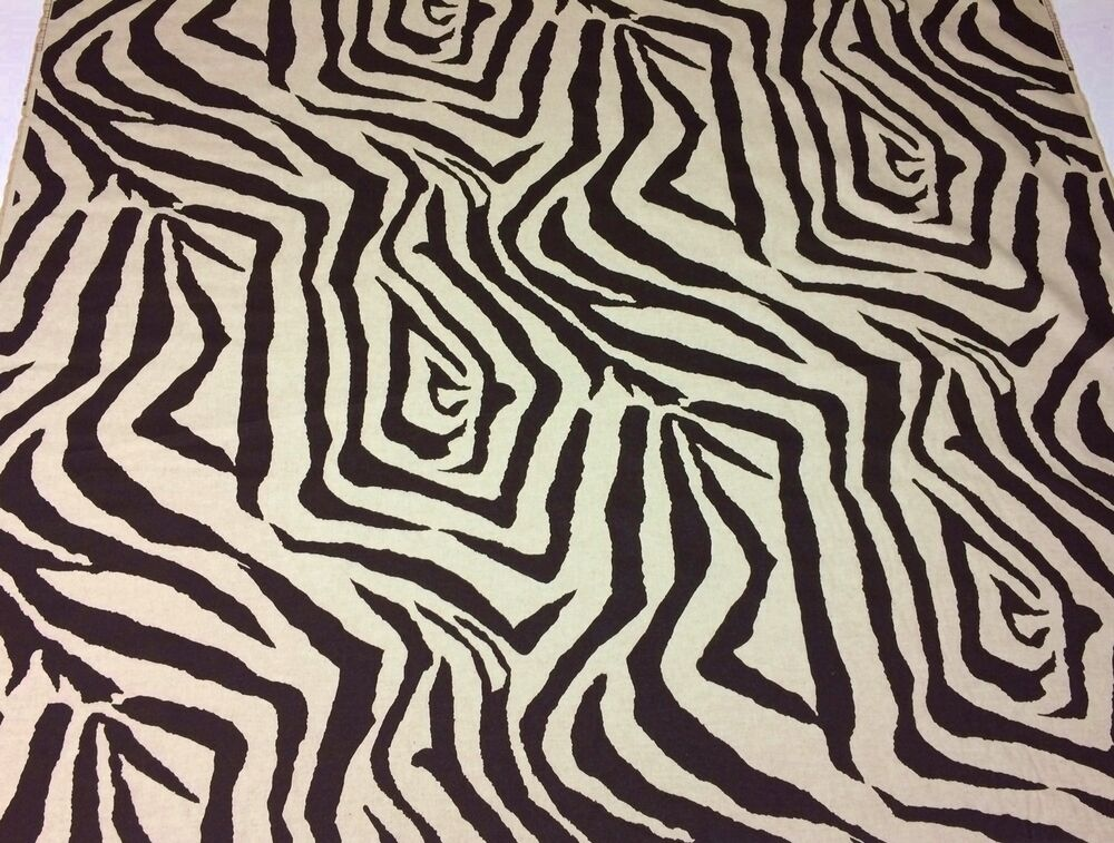 Lacefield designs zebra ikat chocolate brown animal print for By the yard interiors