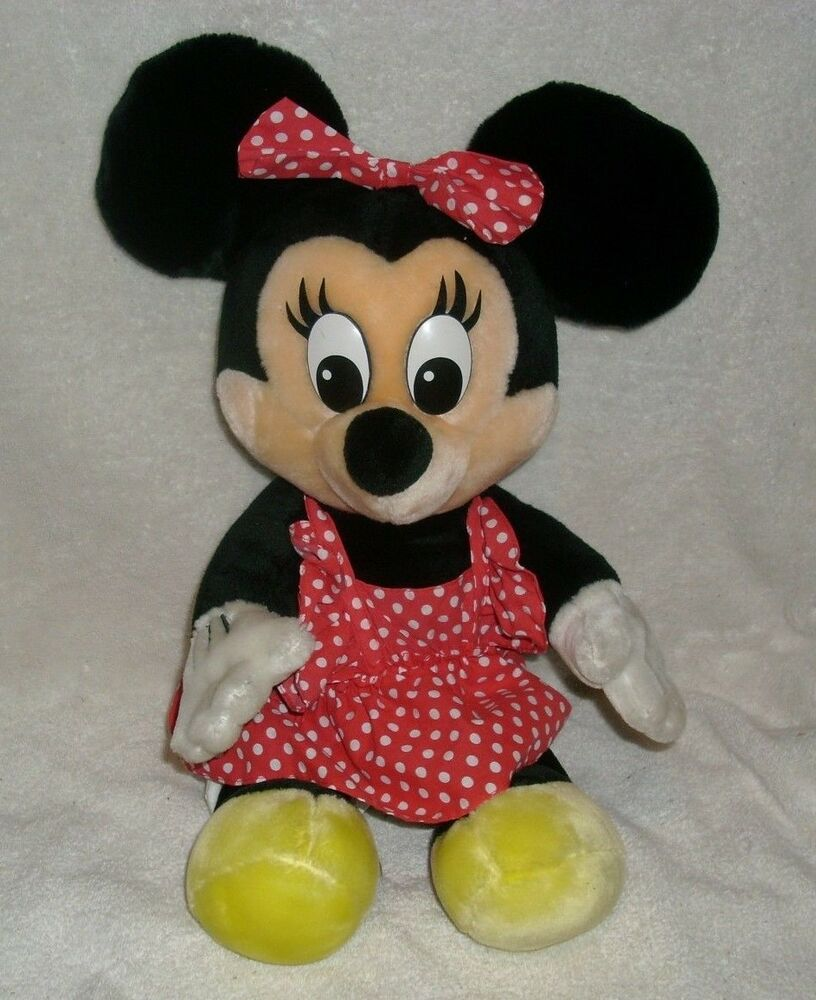"18"" BIG VINTAGE BABY MINNIE MOUSE WALT DISNEY STUFFED ..."