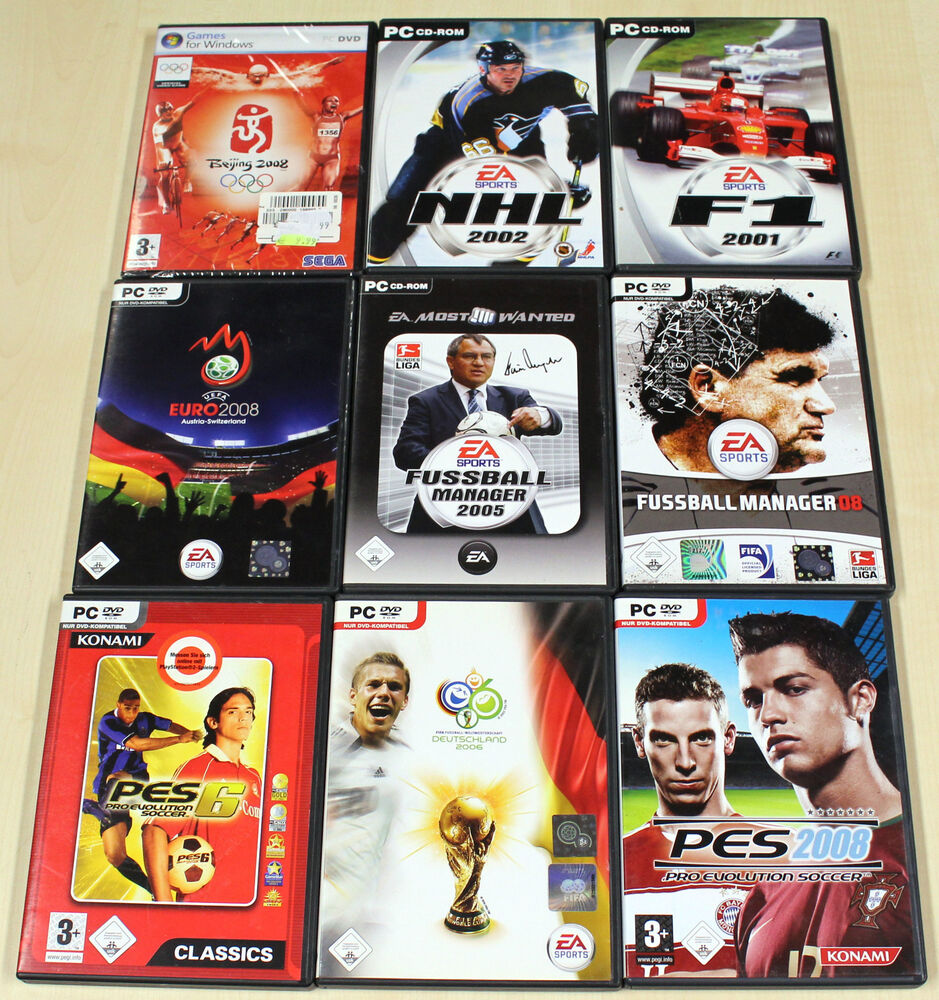 pc spiele sammlung fifa fussball manager pes nhl f1 formel 1 beijing euro 13 14 ebay. Black Bedroom Furniture Sets. Home Design Ideas