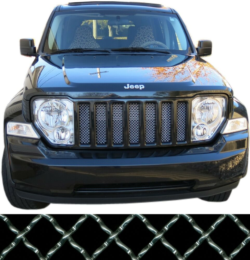 Woven Mesh Car Grilles >> CCG 08-12 JEEP LIBERTY ALUMINUM WOVEN WIRE GRILL GRILLE MESH INSERT KIT SILVER | eBay